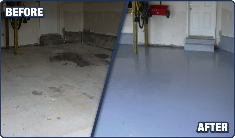 Garage floor epoxy coatings sealtech for Best way to remove oil from garage floor