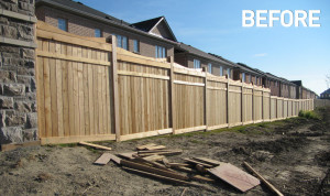 acoustic-fence-staining