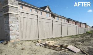 acoustic-fence-staining-toronto-AFTER