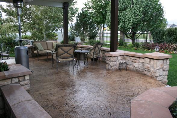 interlocking concrete patio